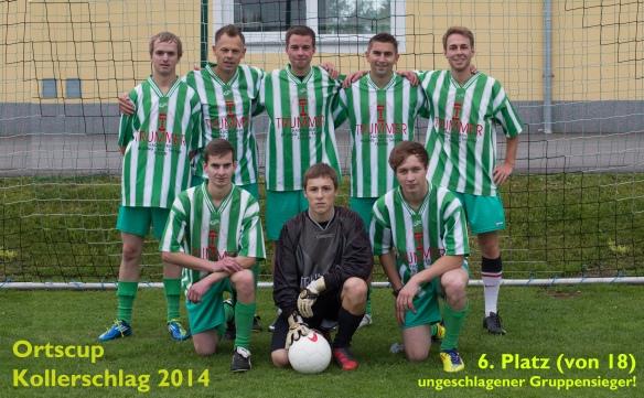 hinten v.l.n.r.: Thomas Ecker, Sigi Kumpfmüller, Lukas Saxinger, Andi Mager, Werner Hopfner; vorne v.l.n.r.: Simon Ecker, Josef Saxinger, Benedikt Saxinger