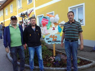 v.l. Kapelmeister Fred Hofmann, Hannes Lauss und Obmann Christian Wurm